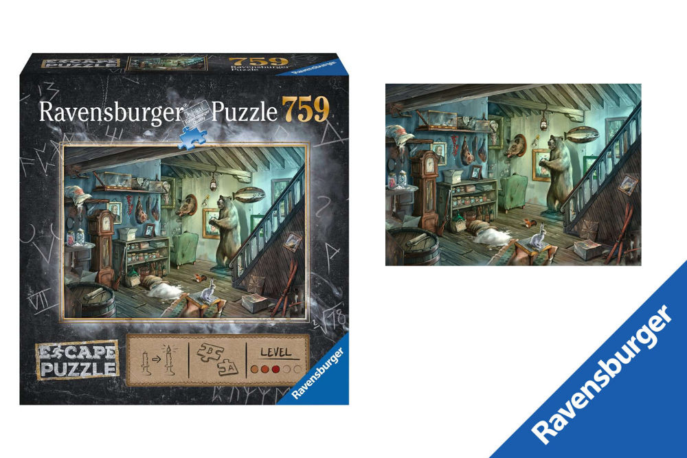 Ravensburger Escape Puzzel in de griezelkelder