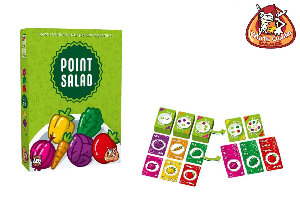 Point Salad, een leuk kaartspel van White Goblin Games